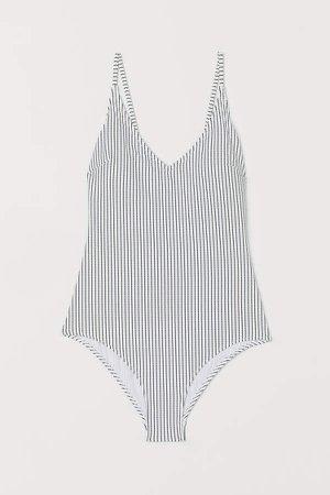 V-neck Swimsuit - White
