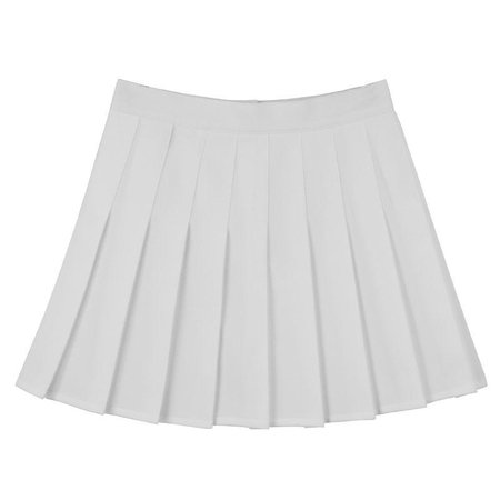 WHITE PLEATED SKIRT – dog dog
