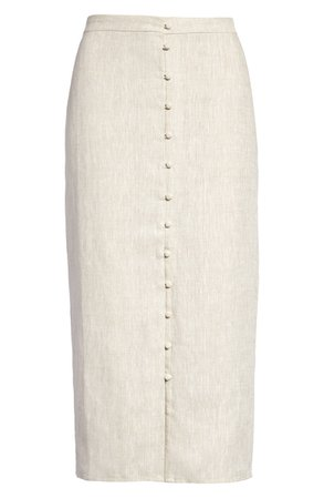 Reformation Fredo Front Button Skirt | Nordstrom