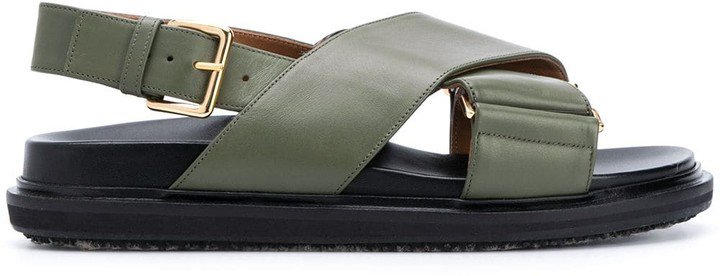 Chunky Crossover Strap Sandals