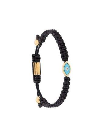 Black & blue Nialaya Jewelry Evil Eye string bracelet WST002 - Farfetch