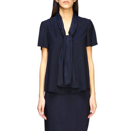Emporio Armani Top Emporio Armani Blouse With Foulard Collar