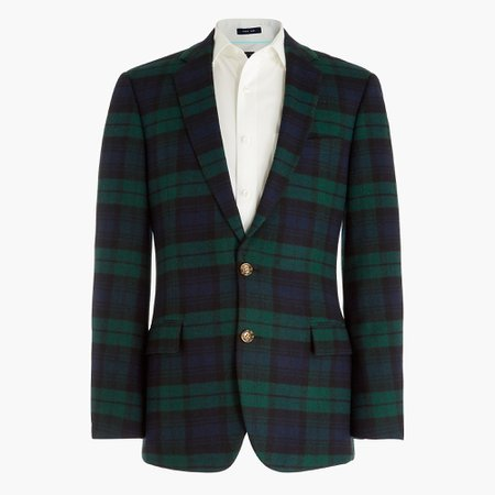 J.Crew Factory: Thompson Wool-blend Blazer In Blackwatch Plaid For Men
