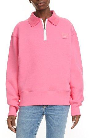 Ferd Quarter Zip Cotton Sweatshirt