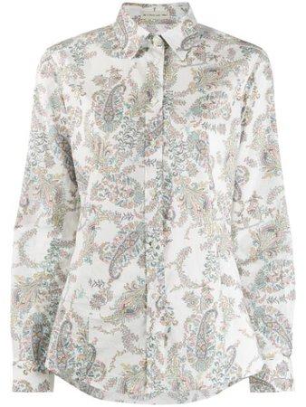 Etro Paisley Print Shirt 135524443 White | Farfetch
