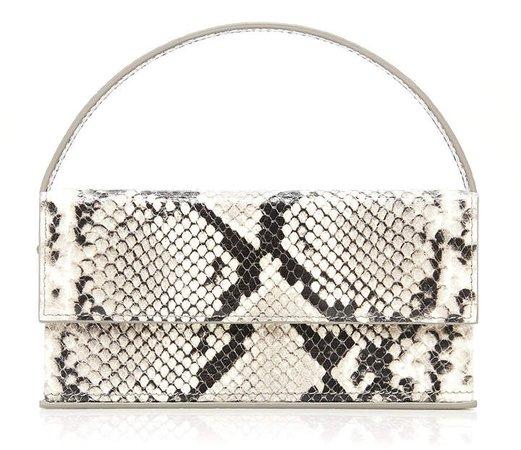 L'Afshar Ida Snake-Effect Leather Shoulder Bag