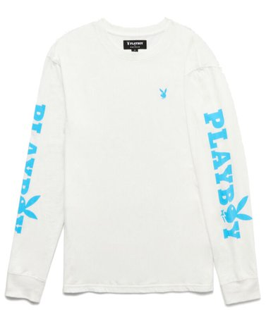 White/Blue Playboy Bunny Shirt