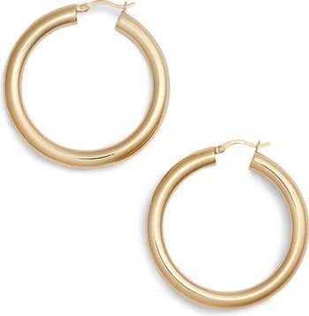 Argento Vivo Medium Hollow Hoop Earrings | Nordstrom