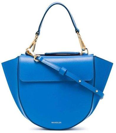 Wandler Blue Mini Leather Shoulder Bag