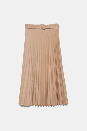 BELTED PLEATED SKIRT | ZARA Canada