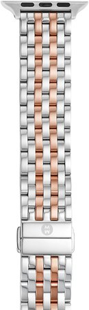 Apple Watch(R) Stainless Steel Bracelet Strap