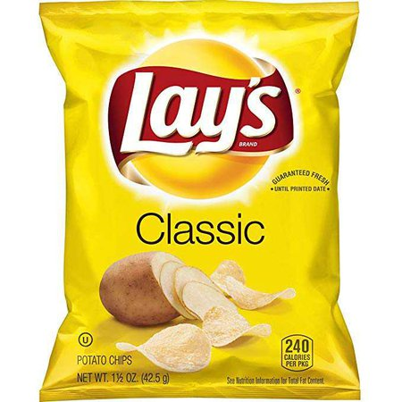 Lay's Classic Potato Chips, 1.5 Ounce (Pack of 64): Amazon.ca: Grocery