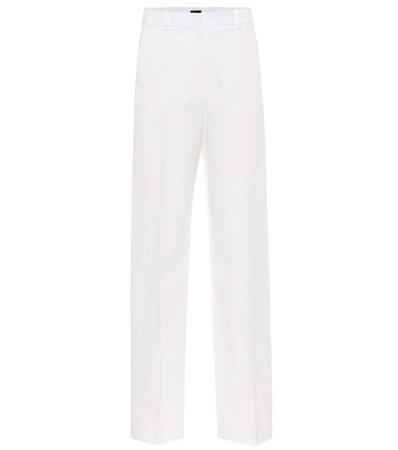 High-Rise Cotton And Linen Pants - Joseph | Mytheresa