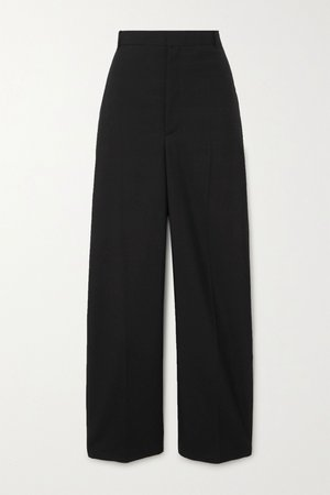 Black Wool-blend twill straight-leg pants | Balenciaga | NET-A-PORTER