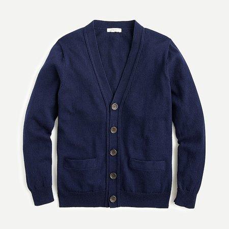 J.Crew: Boys' Cotton-cashmere Cardigan Sweater