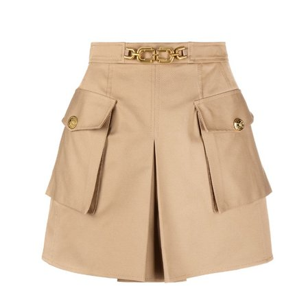 elisabetta franchi straight short skirt light brown
