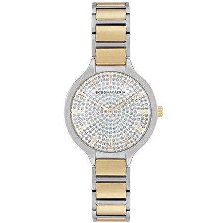 BCBGMAXAZRIA - Women's BCBGMAXAZRIA Crystallized Dial Two Tone Steel BCBG Watch BG50678015 - Walmart.com - Walmart.com