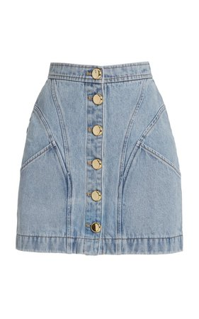 Florence Cotton Denim Mini Skirt by Acler | Moda Operandi