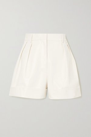 Ivory Leather shorts | Valentino | NET-A-PORTER