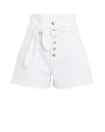 GRLFRND Brynn Tie-Waist Denim Shorts   INTERMIX®