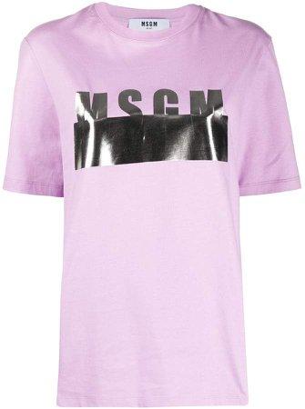 metallic logo print T-shirt