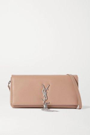 Beige Kate leather shoulder bag | SAINT LAURENT | NET-A-PORTER