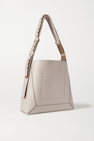 Vegetarian Leather Shoulder Bag - White