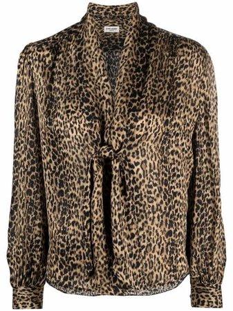 Saint Laurent leopard-print Silk Blouse - Farfetch