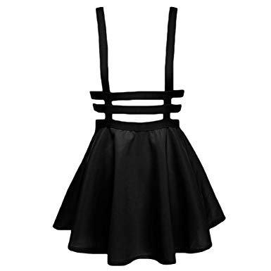 Suspender Black Strappt Skirt