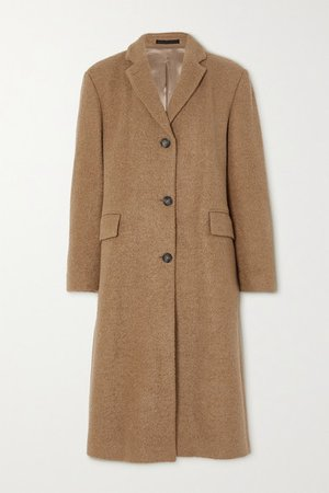 Amber Wool-blend Coat - Tan