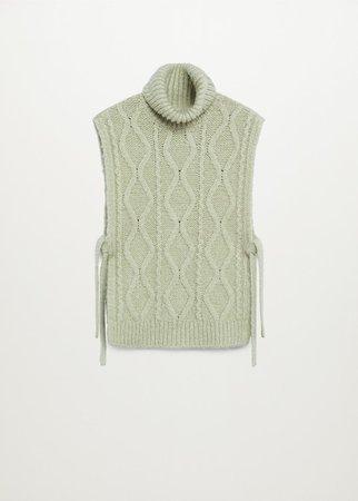 Turtleneck knit gillet - Women   Mango USA