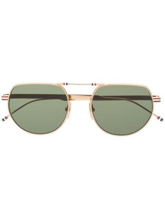 Thom Browne Eyewear Aviator Frame Sunglasses - Farfetch