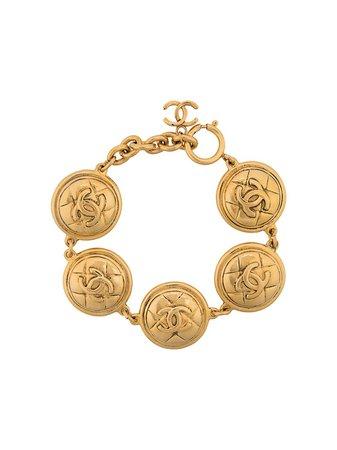 Chanel Pre-Owned '1980S Link Bracelet BL008964 Gold | Farfetch