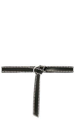 B-Low the Belt Mia Moto Belt in Black & Silver   REVOLVE
