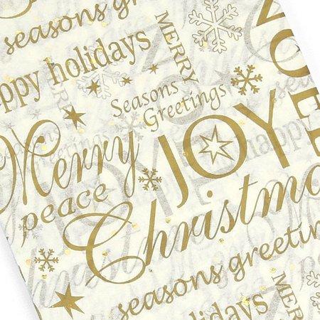 Noel Gemstone Gold Sparkle Christmas Gift Wrap Tissue Paper - Pipii