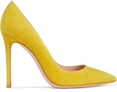 105 Suede Pumps - Yellow