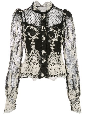 Alexis Embroidred Lace Blouse - Farfetch
