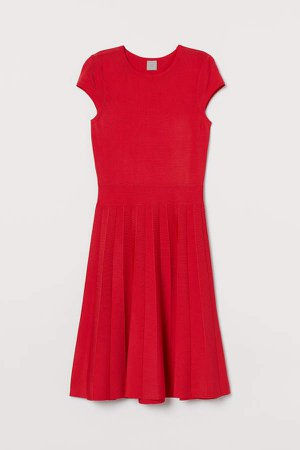Flared Dress - Red