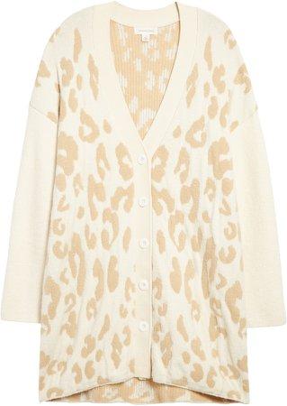 Leopard Cotton Blend Cardigan