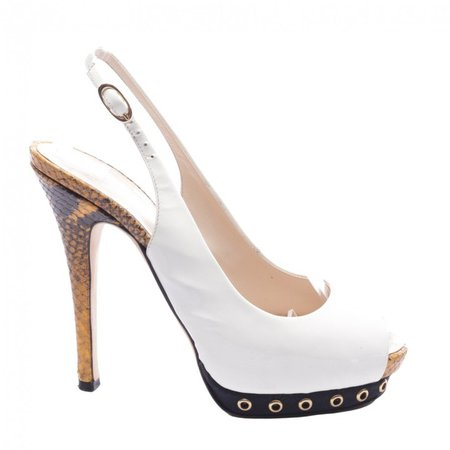 White Exotic leathers Sandals