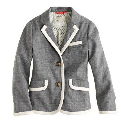 piping school uniform blazer