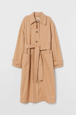 Pima Cotton Trenchcoat - Beige
