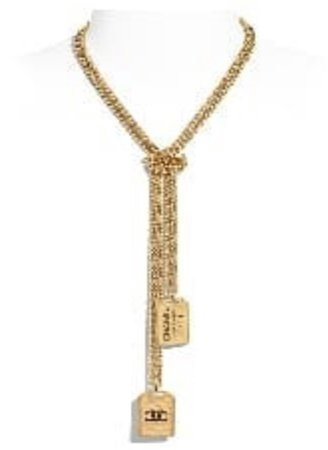 CHANEL Metal Gold Necklace