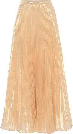 Andrew Gn Plisse Silk-Blend Midi Skirt