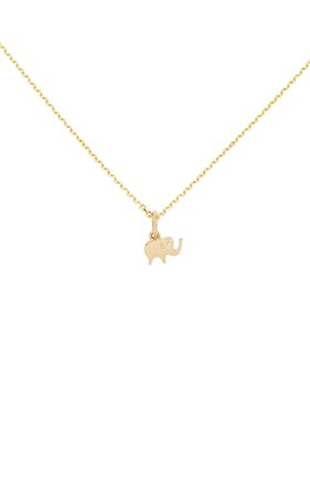 With Love- Elephant 18K Gold Necklace