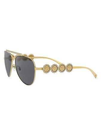 Versace 59MM Aviator Sunglasses | SaksFifthAvenue