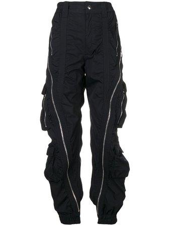 Mugler diagonal zip trousers