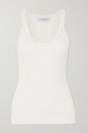 Daniel Ribbed Wool Tank Top - Ivory