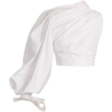 Jacquemus Le Haut Miro one-shoulder Cotton Top