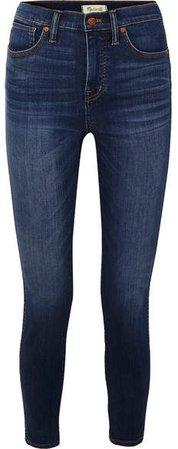 High-rise Skinny Jeans - Mid denim